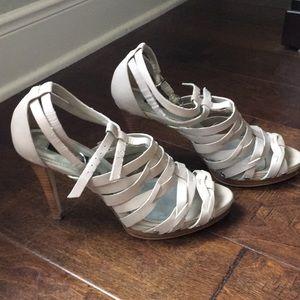 Multi Strapped Tan Heels